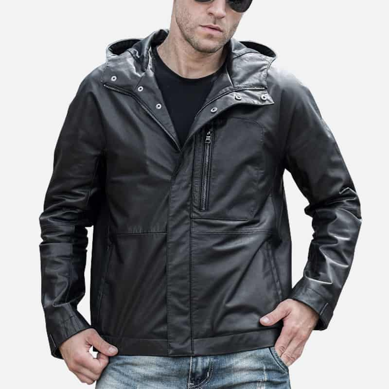 Men's Real Cowhide Leather Jacket