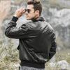 Mens bomber pilot style leather jacket 04