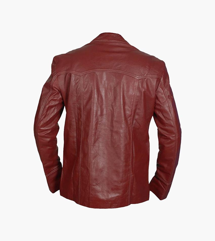 Tyler Durden Red Leather Jacket 01