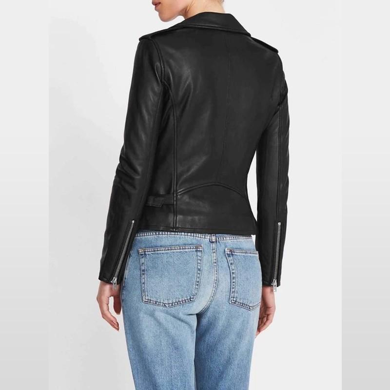 Rave Black Women Leather Jacket
