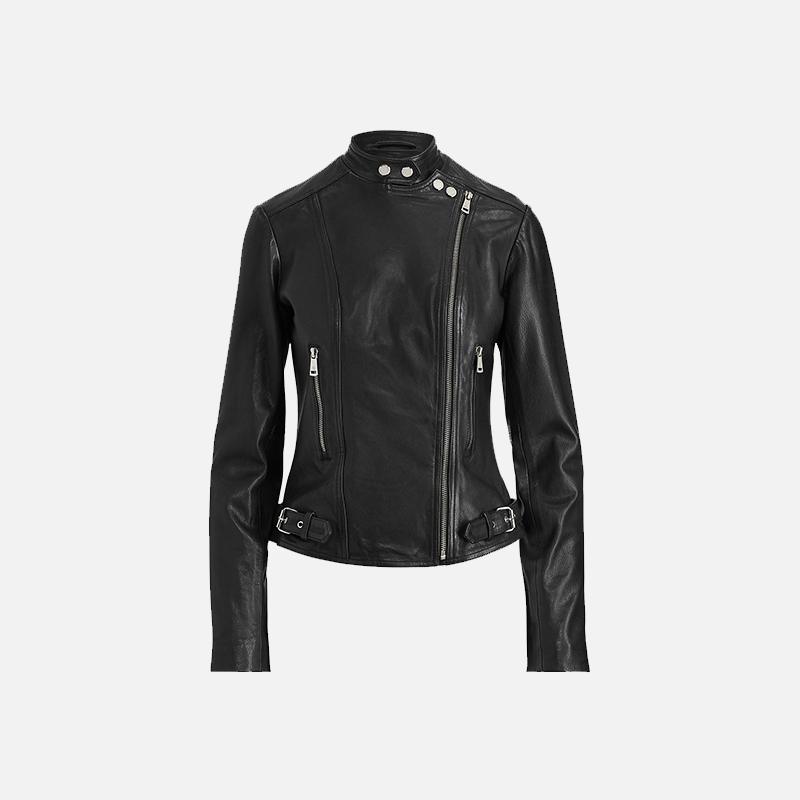Women's Black Biker Jackets