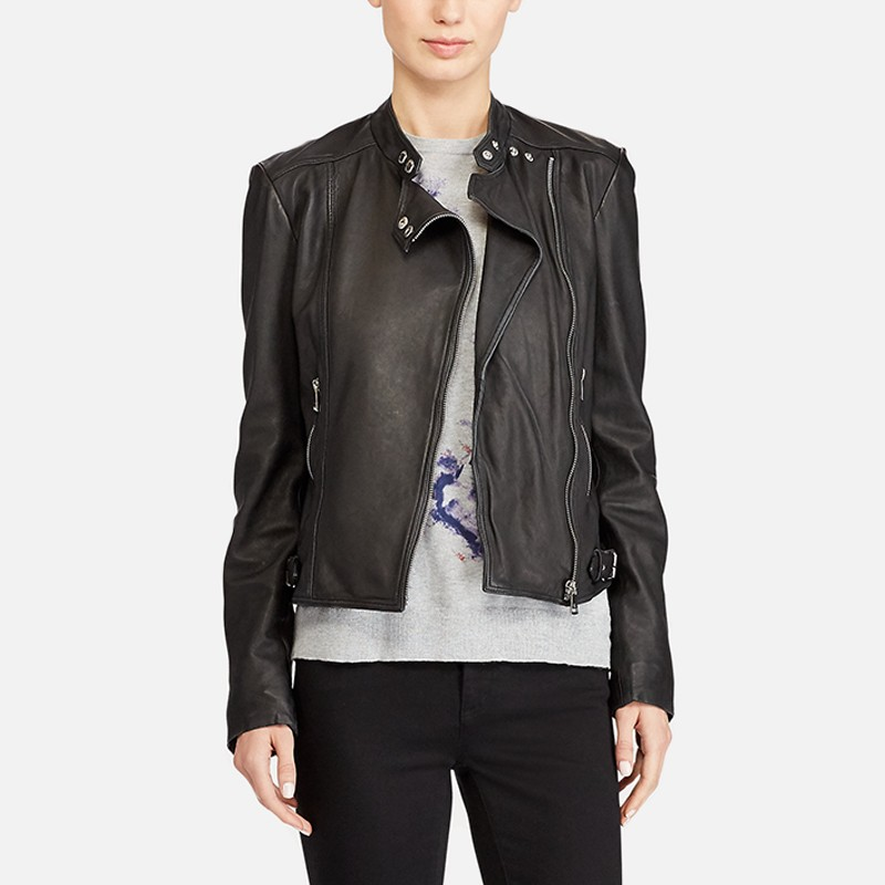 Women's Motorcycle Style Leather Jacket