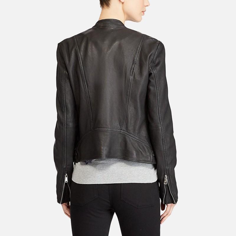 Women's Motorcycle Style Leather Jacket