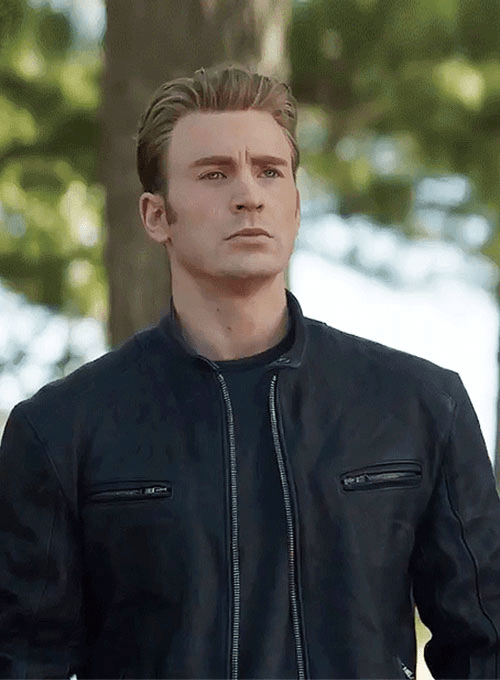 Chris Evans Avengers Endgame Black Leather Jacket